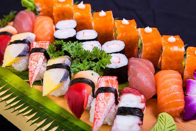 Món sushi tại Tei tươi ngon.