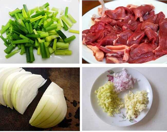 thịt bò và hành tây nấu món gì